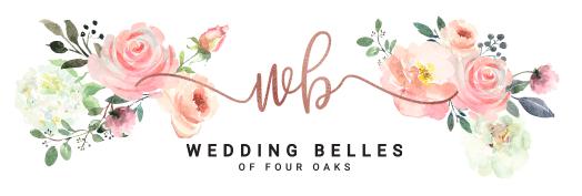 Floral Wedding Belles of Four Oaks Logo - boutique for wedding dress shopping