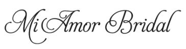 Simple Mi Amor's Logo - boutique for wedding dress shopping